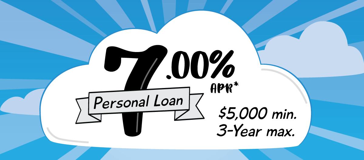 7.00% APR* Personal Loan