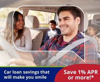 Car loan savings that will make you smile. Save 1% APR or more!*