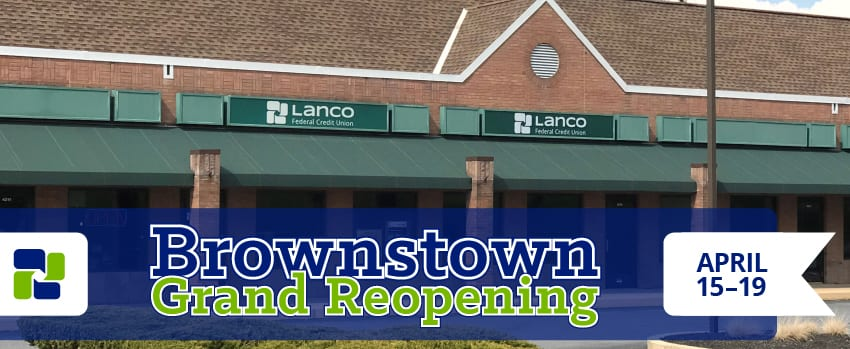 Brownstown Grand Reopening April 15-19, 2019