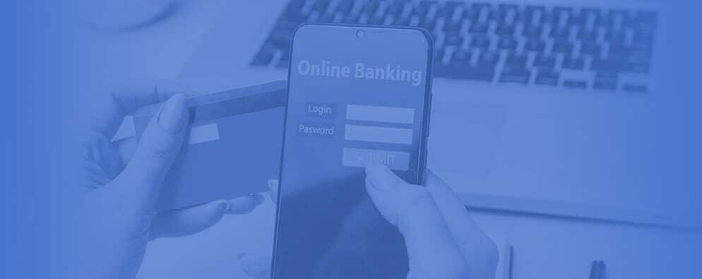 Online banking on cell phone